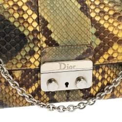 حقيبة كروس ديور ميس ديور قلاب و سلسله جلد ثعبان متعدد الألوان