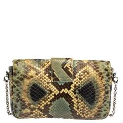 Dior Multicolor Python Chain Miss Dior Flap Crossbody Bag