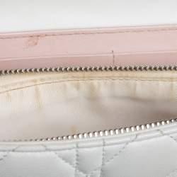 Dior Off White Leather Miss Dior Promenade Chain Bag