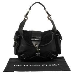 Dior Black Leather and Suede Rebelle Hobo