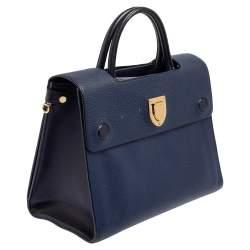 Dior Blue Leather Medium Diorever Tote