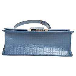 Dior Blue Micro Cannage Leather 30 Montaigne Shoulder Bag