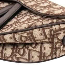 Dior Beige Oblique Canvas Saddle Bag