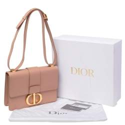Dior Beige Leather 30 Montaigne Shoulder Bag