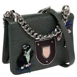 Dior Green Embellished Leather Diorama Club Shoulder Bag
