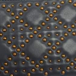 Dior Stone Blue Cannage Leather Lady Dior Camera Crossbody Bag
