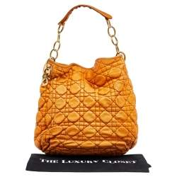 Dior Tan Quilted Cannage Leather Hobo