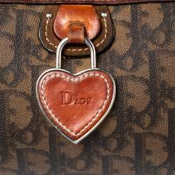 Dior Brown Oblique Coated Canvas and Leather Trim Romantique Crossbody Bag