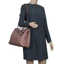 Dior Light Brown Leather Large Diorissimo Shopper Tote