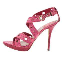 Dior Pink Leather Dior Bubble Platform Sandals Size 39.5