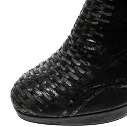 Dior Black Leather Miss Dior Platform Booties Size 40.5
