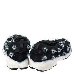 Dior Black Mesh Fusion Embellished Sneakers Size 36.5