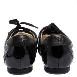 Dior Black Cannage Leather Low Top Sneakers Size 37