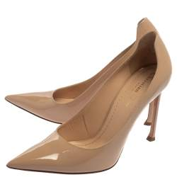 Dior Beige Patent Leather Pointed Toe Nova Pumps Size 39.5