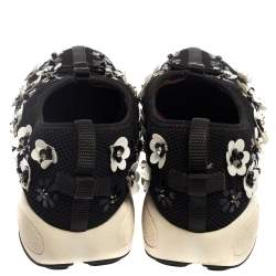 Dior Black Embellished Mesh Fabric Fusion Sneakers Size 35.5
