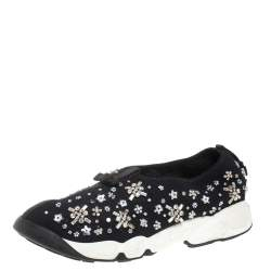 Dior Black Mesh Fusion Embellished Low Top Sneakers Size 40