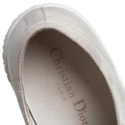 حذاء رياضي ديور والكينغ ديور كانفاس أبيض بعنق منخفض مقاس 38