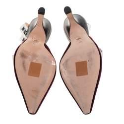 Dior Burgundy Velvet J'adior Slingback Sandals Size 38