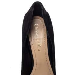 Dior Black Suede Amour Pumps Size 37.5