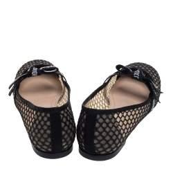 Dior Black Mesh Miss J'Adior Flats Size 41