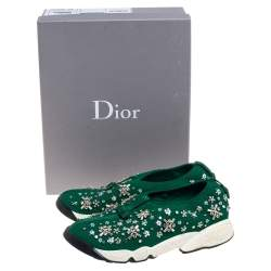 Dior Green Mesh Fusion Low Top Sneakers Size 37