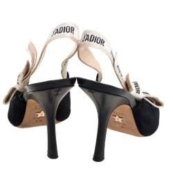 Dior Black Suede J'adior Slingback Pumps Size 38.5