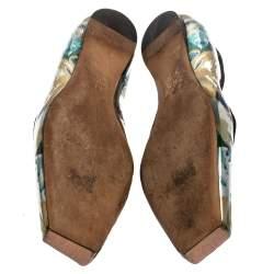 Dior Multicolor Patent Leather Mary Jane Square Toe Flats 41.5