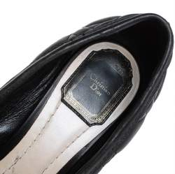 Dior Black Cannage Leather Buckle Detailed Pumps Size 38