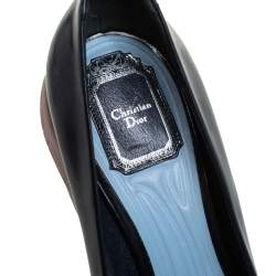 Dior Black Patent Leather Runway Sneakers Pumps Size 38