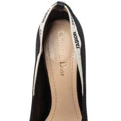 Dior Black/White Fabric J'adior Pumps Size 38.5