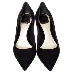 Dior Black Suede Pointed Toe Pumps Size 41