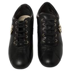 Dior Black Leather Low Top Sneakers Size 37