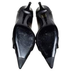 Dior Black Leather Pointed Toe D-orsay Pumps Size 40.5