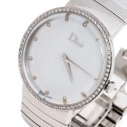 Dior Silver Stainless Steel Diamonds La D De Dior CD043111 Women's Wristwatch 38 mm
