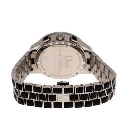 Dior Black Stainless Steel Diamonds Christal CD11431C-V Women's Wristwatch 38 mm