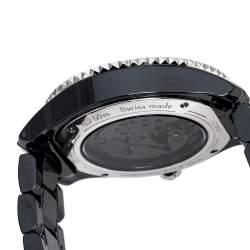 Dior Black Ceramic Diamond VIII Placed Vendome Grand Bal CD124BE3 Women's Wristwatch 38 mm