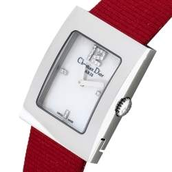 Dior Mother Of Pearl Stainless Steel Malice D108-109 Women's Wristwatch 19 mm