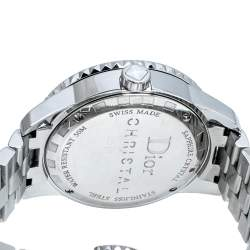 Dior White Stainless Steel Diamonds Christal CD113112-V Women's Wristwatch 33 mm