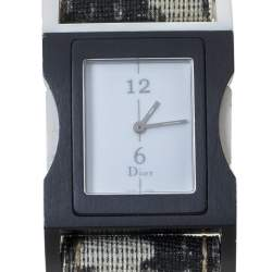 Dior White Aluminium and Canvas D100-321 Women's Wristwatch 30 mm