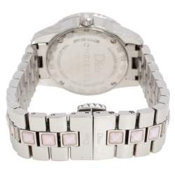 Dior Mother Of Pearl Stainless Steel Diamond Christal CD112111M001 Women's Wristwatch 28 mm