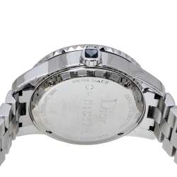 Dior Silver Grey Crystal Stainless Steel CD113116 Christal Women's Wristwatch 33MM