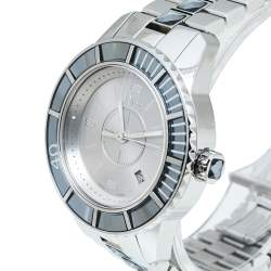 Dior Grey Stainless Steel Christal CD113116 Women's Wristwatch 33MM