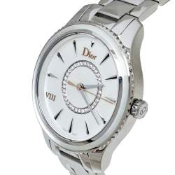 Dior Silver Mother of Pearl Stainless Steel CD152110 VIII Montaigne Women's Wristwatch 32MM