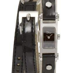 Dior Black Stainless Steel 66 Women's Wristwatch 12 x 35 MM