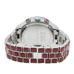 Dior Red Crystals & Stainless Steel Diamond Christal CD11431G-V Women's Wristwatch 38 mm