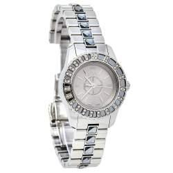 Dior Grey Stainless Steel Diamonds Christal CD112115M001 Women's Wristwatch 29 mm