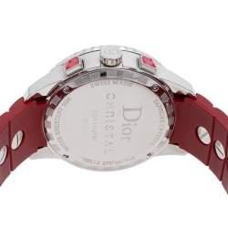 Dior Red Stainless Steel Diamonds Christal CD11431B Women's Wristwatch 38 mm
