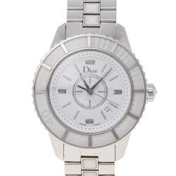 Dior  White Stainless Steel Christal CD113111 Women's Wristwatch 33 mm