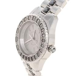 Dior Grey Stainless Steel Diamond Christal CD112115M001 Women's Wristwatch 29 mm