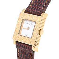 Christian Dior White Gold Plated Stainless Steel La Parisienne D60159 Women's Wristwatch 19 mm